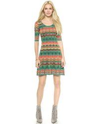 M Missoni Multi Zig Zag Stripe Dress - Lyst
