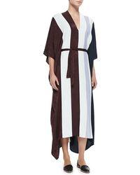 The Row Mixedmedia Vneck Caftan Dress - Lyst