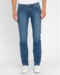 M.studio Géraud Double Stonewashed Slim-fit Jeans blue - Lyst
