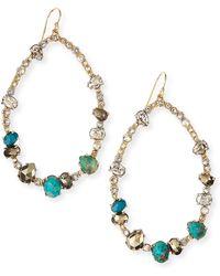 Alexis Bittar Gilded Muse Dore Crystal Hoop Wire Earrings - Lyst