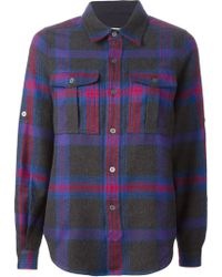Sea Check Print Shirt - Lyst