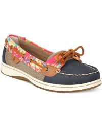 Sperry Top-Sider Sperry Women'S Angelfish Flamingo Floral Boat Shoes - Lyst