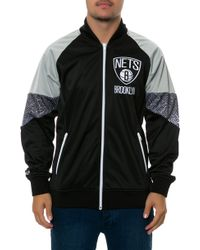 Mitchell & Ness The Brooklyn Nets Court Vision Jacket - Lyst