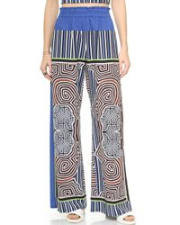 Clover Canyon Striped Labyrinth Elastic Waist Pants - Multi - Lyst