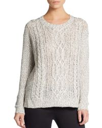 Kensie Cable-Knit Sweater - Lyst