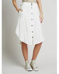 Free People Solid Train Of Love Skirt - Lyst