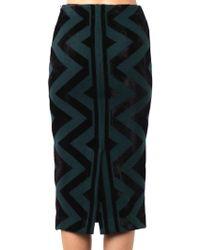 Burberry Prorsum - Geometric Compact-Knit Pencil Skirt - Lyst