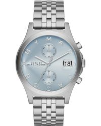 Marc By Marc Jacobs Slim Chrono Stainless Steel Chronograph Bracelet Watch/Blue - Lyst