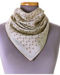 Hermès - HermãˆS Grey Anchor Foulard Scarf - Lyst