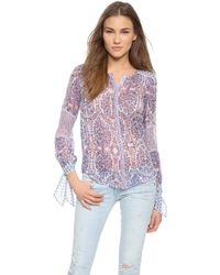 Rebecca Taylor Paisley Top - Admiral Combo - Lyst