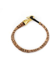 Lulu Frost G. Frost X Michael Bastian - Thin Dbl Strand Bracelet gold - Lyst