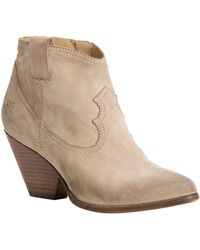 Frye Reina Leather Ankle Boots - Lyst