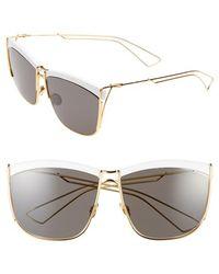 Dior Women'S 58Mm Retro Metal Sunglasses - White Yellow Gold/ Brown Grey - Lyst