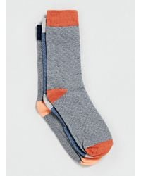 Topman Selected Homme Patterned 3 Pack Socks - Lyst