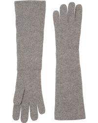 Ralph Lauren Gray Gloves - Lyst