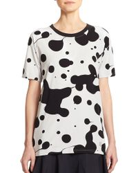 Marc By Marc Jacobs Cotton Splatter-Print Tee black - Lyst