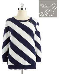 Anne Klein Plus Striped Sweater - Lyst
