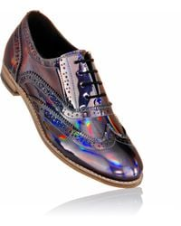 Luke Grant-muller Men'S Holographic Iridescent Metallic Brogue Shoes multicolor - Lyst