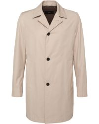 BOSS | 'dais' | Cotton Blend Water-repellent Car Coat | Lyst