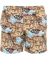 Richard James World-Map Print Swim Shorts - Lyst