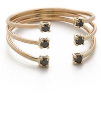 jennie kwon diamond cage cuff ring goldblack lyst