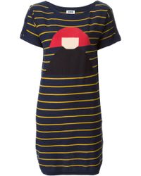 Sonia By Sonia Rykiel Graphic Face Sweater Dress - Lyst