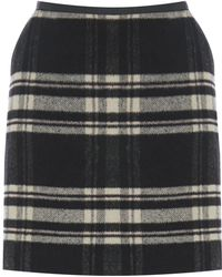 Oasis Check Marley Mini Skirt - Lyst