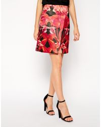 Ted Baker Skirt in Jungle Orchid Print - Lyst