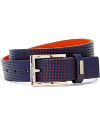 Bugatchi - Perforated Leather Belt - Lyst