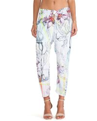 Clover Canyon Floral Line Drawing Pant - Lyst