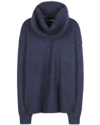 Acne Studios Demi Mix Wool and Mohairblend Sweater with Removable Snood - Lyst