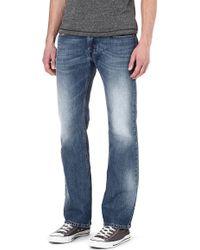 Diesel Zatiny Regularfit Bootcut Jeans 01 - Lyst