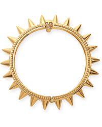 Alexander McQueen Spiked Yellow Gold Hinge Bracelet - Lyst