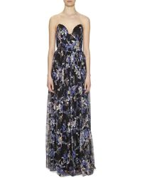 Nicole Miller | Embroidered Flowers Gown | Lyst