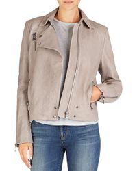 J Brand Lais Leather Jacket - Lyst