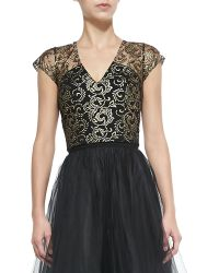 Sachin & Babi Noir Adore Sleeveless Lace Top - Lyst