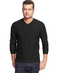 Weatherproof Vintage Slub V-Neck Sweater - Lyst