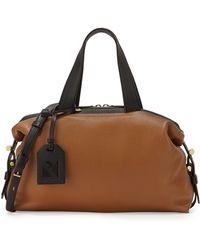 Reed Krakoff Altas Mini Colorblock Leather Satchel Bag brown - Lyst