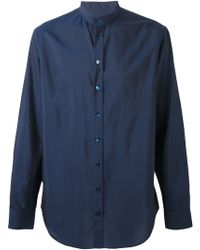 Giorgio Armani Band Collar Shirt - Lyst