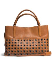Coach The Grommets Soft Borough Bag in Pebbled Leather - Lyst