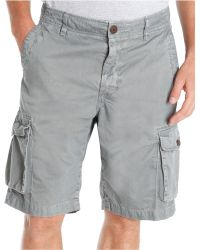 Lucky Brand Solid Cargo Shorts - Lyst