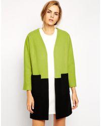 Helene Berman Color Block Coat - Lyst