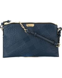 Burberry | Check-Embossed Leather Cross-Body Bag | Lyst