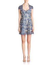 Notte by Marchesa Embroidered Empire-Waist Dress - Lyst