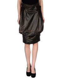 Vivienne Westwood Knee Length Skirt brown - Lyst