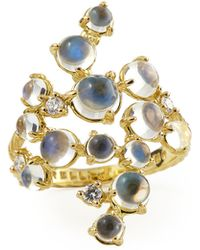 Paul Morelli - Moonstone & White Diamond Bubble Cluster Ring - Lyst