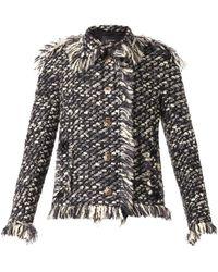 Lanvin Gray Texturedtweed Jacket - Lyst
