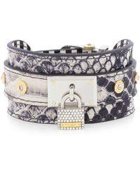 Henri Bendel Jetsetter Exotic Cuff Bracelet - Lyst