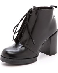 Cheap Monday Layered Booties  Black - Lyst