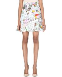 Mary Katrantzou Mars Printed Stretch Crepe Skirt - Lyst